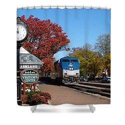 Ashland Train Depot Shower Curtain