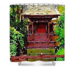 Asian Temple Shower Curtain by Daniel Precht