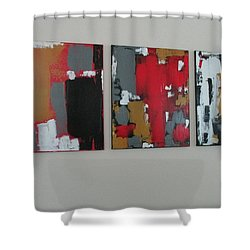 Shower Curtain featuring the painting Asian Dawn Asian Day Asian Night by Sharyn Winters
