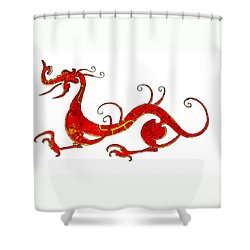 Asian Dragon Shower Curtain by Michael Vigliotti