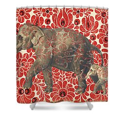 Asian Elephant-jp2185 Shower Curtain by Jean Plout