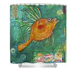 Asian Fish Shower Curtain