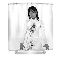 Asian Girl Shower Curtain