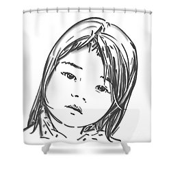 Asian Girl Shower Curtain