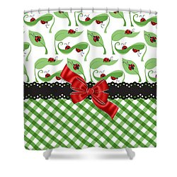 Asiatic Ladybugs  Shower Curtain by Debra  Miller