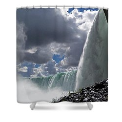 Aside Horseshoe Falls Shower Curtain by Katie Beougher