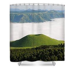 Shower Curtain featuring the photograph Aso Komezuka Sea Of Clouds Cloud Kumamoto Japan by Paul Fearn