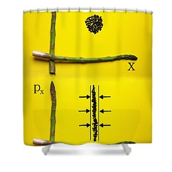 Shower Curtain featuring the photograph Asparagus And Black Rice Depicting Heisenberg Uncertainty Food Physics by Paul Ge