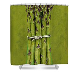 Asparagus Shower Curtain by Brian James