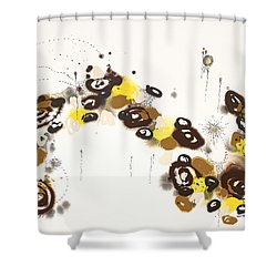 Aspen Celebration #3 Shower Curtain by Nadine Rippelmeyer