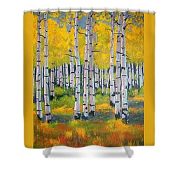 Shower Curtain featuring the painting Aspen Color by Nancy Jolley