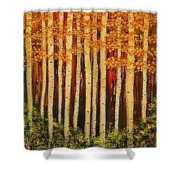 Aspen Grove  Shower Curtain