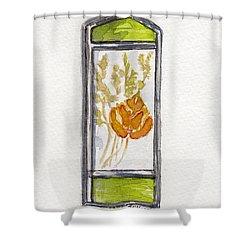 Aspen Leaf Suncatcher Shower Curtain by Julie Maas