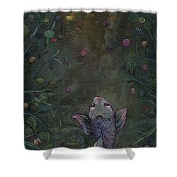 Aspiration Of The Koi Shower Curtain by Shadia Derbyshire