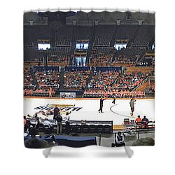 Assembly Hall University Of Illinois Shower Curtain by Thomas Woolworth