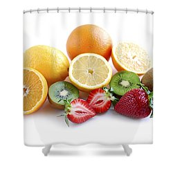 Assorted Fruit Shower Curtain by Elena Elisseeva