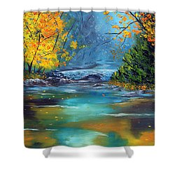 Shower Curtain featuring the painting Assurance by Meaghan Troup