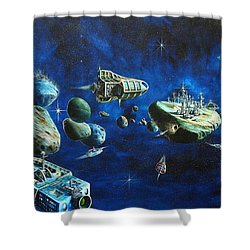 Asteroid City Shower Curtain by Murphy Elliott
