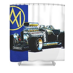 Aston Martin Hot Rod Shower Curtain