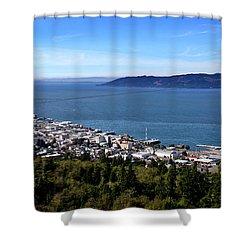 Astoria Oregon Shower Curtain by Aaron Berg