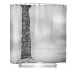 Shower Curtain featuring the photograph Astoria The Column by David Millenheft