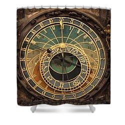 Astronomical Clock Shower Curtain