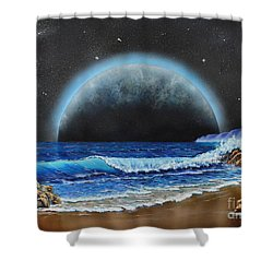 Astronomical Ocean Shower Curtain