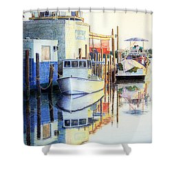 At Cortez Docks Shower Curtain