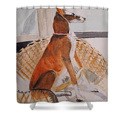 At Full Attention Shower Curtain by Nancy Kane Chapman