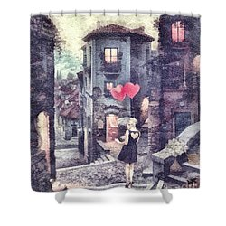 At Heart Shower Curtain by Mo T