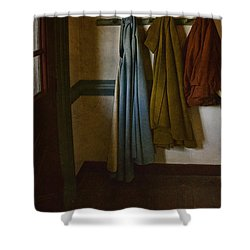 At Home Shower Curtain by Margie Hurwich