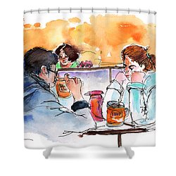 At Nashville Ihop Shower Curtain by Miki De Goodaboom