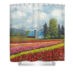 Shower Curtain featuring the painting At Peterson And Avon Allen by Phyllis Howard
