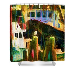 At Rest Menemsha M. V. Shower Curtain