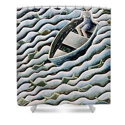 At Sea Shower Curtain by Celia Washington