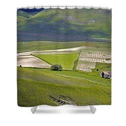 Shower Curtain featuring the photograph Parko Nazionale Dei Monti Sibillini, Italy 7 by Dubi Roman