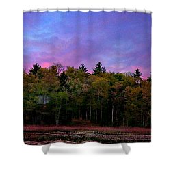 At Sunset Shower Curtain by Barbara S Nickerson