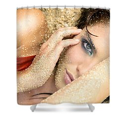 At The Beach Shower Curtain by Kicka Witte