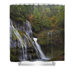 At The Bottom Of Panther Creek Falls Shower Curtain by David Gn