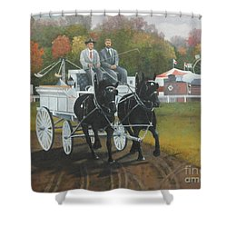 At The Carp Fair Shower Curtain