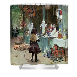 At The Champs Elysees Gardens Shower Curtain by Victor Gabriel Gilbert