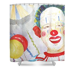 Shower Curtain featuring the painting At The Circus by Sandy McIntire