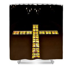 Shower Curtain featuring the photograph At The Cross by Deena Stoddard