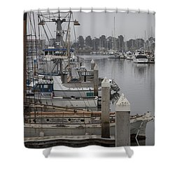 At The Dock Shower Curtain by Amanda Barcon