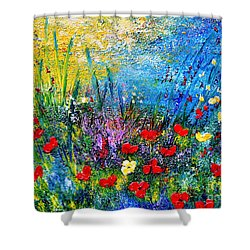At The End Of The Day Shower Curtain by Teresa Wegrzyn