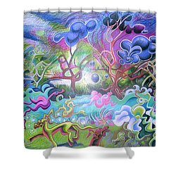 At The Equator Shower Curtain by Genevieve Esson