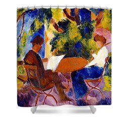 At The Garden Table Shower Curtain