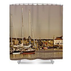 At The Harbor - Martha's Vineyard Shower Curtain by Kim Hojnacki