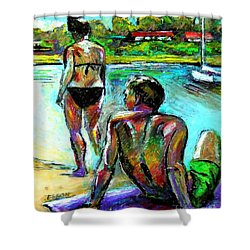 At The Marina Shower Curtain by Stan Esson