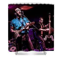 At The Mic Shower Curtain by Ray Congrove